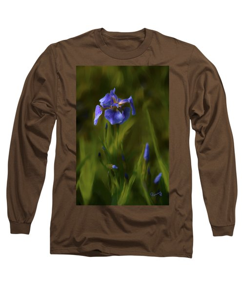 Painted Alaskan Wild Irises Long Sleeve T-Shirt