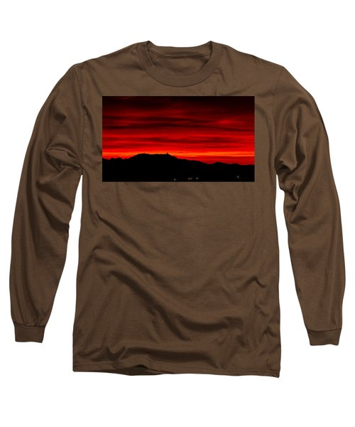 Long Sleeve T-Shirt featuring the photograph Painted Sky 36 by Mark Myhaver