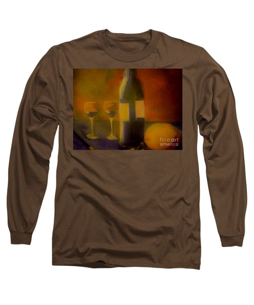 Painting And Wine Long Sleeve T-Shirt by Lisa Kaiser