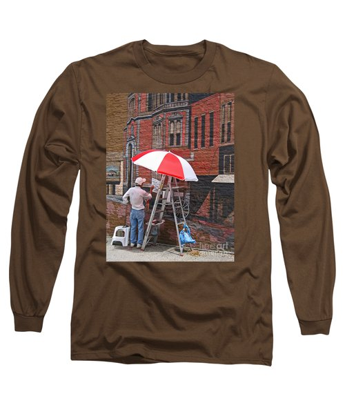 Long Sleeve T-Shirt featuring the photograph Painting The Past by Ann Horn