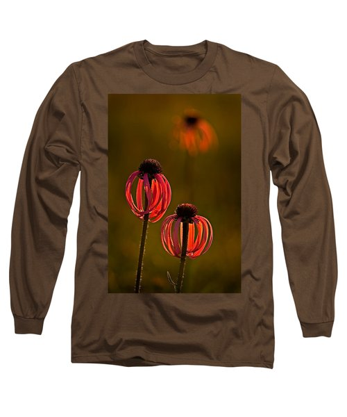 Pale Purple Cone Flowers Long Sleeve T-Shirt