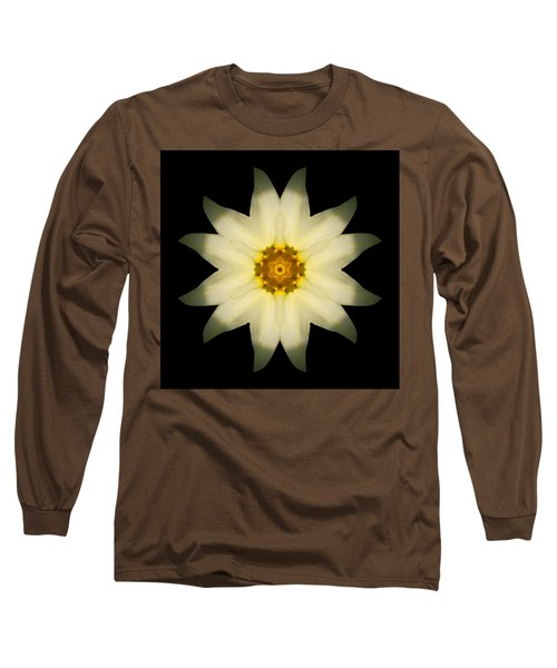 Long Sleeve T-Shirt featuring the photograph Pale Yellow Daffodil Flower Mandala by David J Bookbinder
