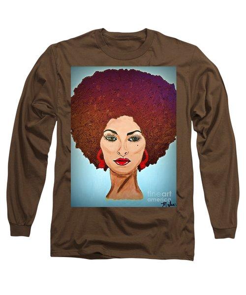 Pam Grier C1970 The Original Diva Long Sleeve T-Shirt
