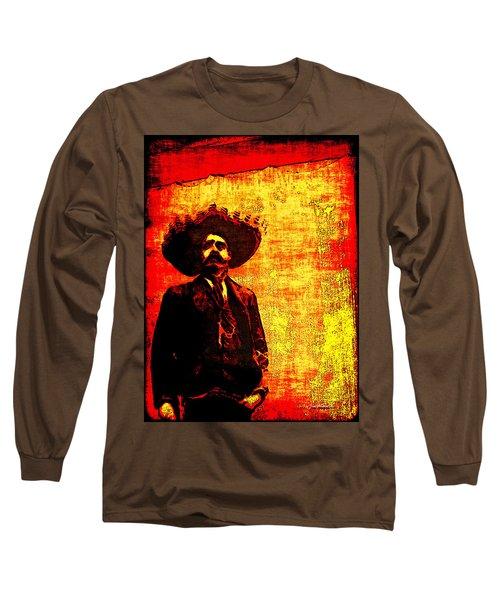 Pancho Villa Long Sleeve T-Shirt by Joan  Minchak