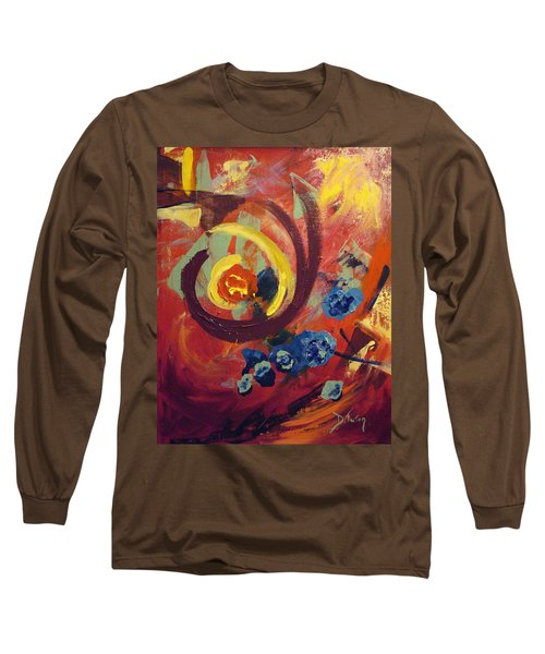 Long Sleeve T-Shirt featuring the painting Pansymania by Donna Tuten
