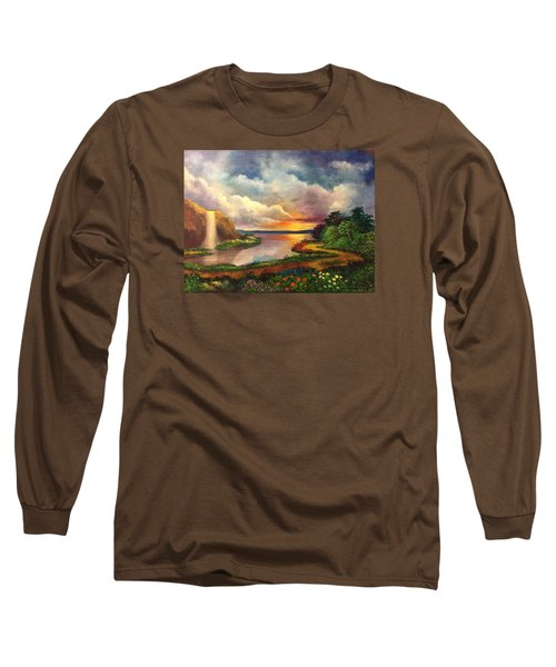 Paradise And Beyond Long Sleeve T-Shirt by Randy Burns