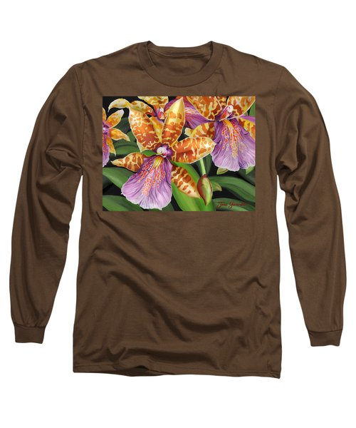 Paradise Orchid Long Sleeve T-Shirt by Jane Girardot