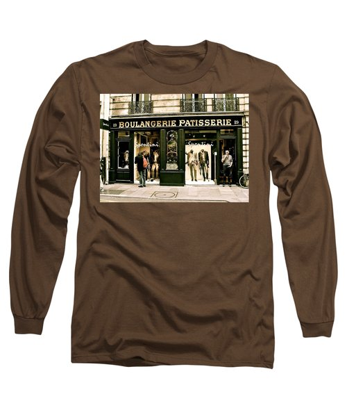 Long Sleeve T-Shirt featuring the photograph Paris Waiting by Ira Shander