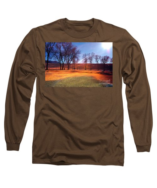Park In Mcgill Near Ely Nv In The Evening Hours Long Sleeve T-Shirt by Gunter Nezhoda