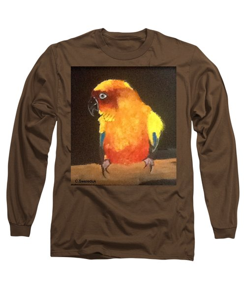 Parrot Long Sleeve T-Shirt by Catherine Swerediuk