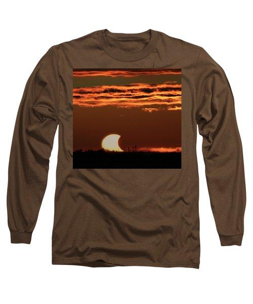 Pac-man Sun Long Sleeve T-Shirt by Richard Engelbrecht