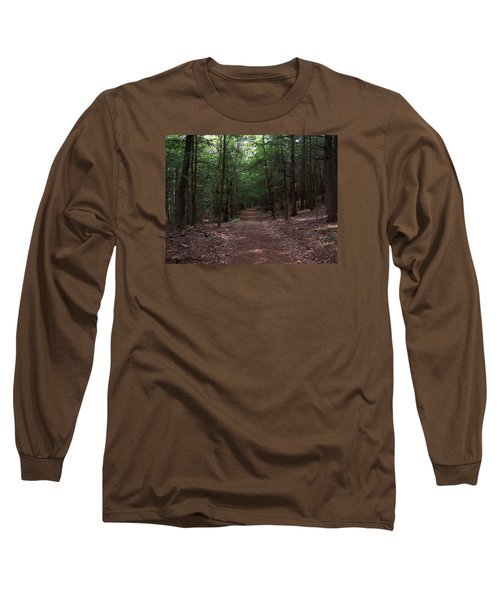 Path In The Woods Long Sleeve T-Shirt by Catherine Gagne