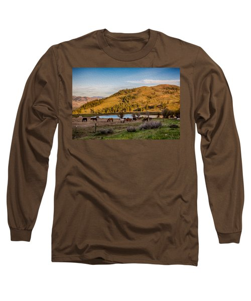 Patterson Mountain Afternoon View Long Sleeve T-Shirt