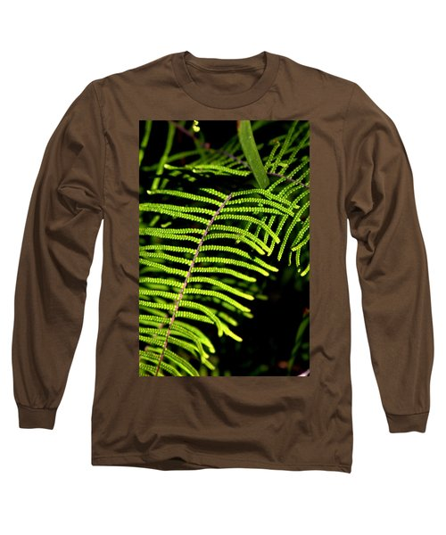 Long Sleeve T-Shirt featuring the photograph Pauched Coral Fern by Miroslava Jurcik
