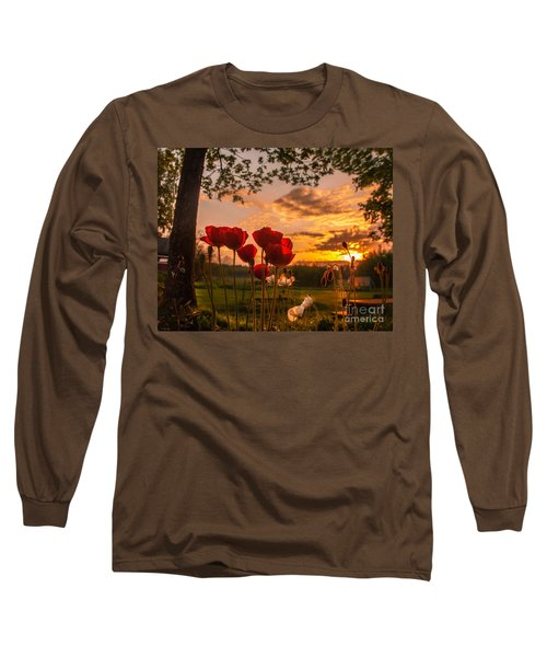 Long Sleeve T-Shirt featuring the photograph Peaceful Poppy by Rose-Maries Pictures