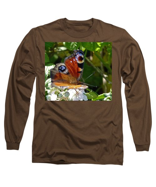 Peacock Butterfly Long Sleeve T-Shirt
