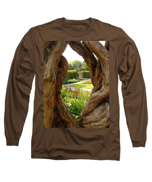 Peek At The Garden Long Sleeve T-Shirt by Vicki Spindler