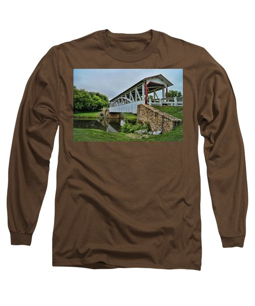 Pennsylvania Covered Bridge Long Sleeve T-Shirt by Kathy Churchman