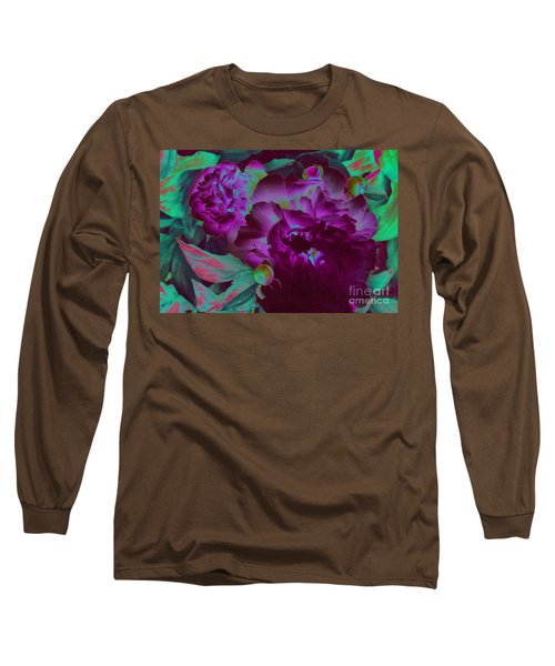 Peony Passion Long Sleeve T-Shirt by First Star Art