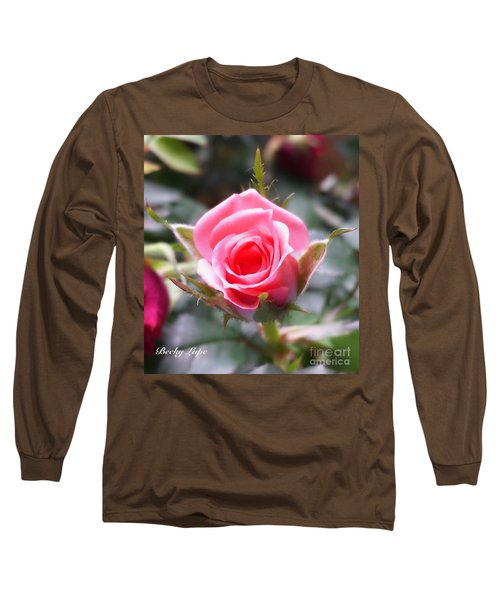 Perfect Rosebud In True Color Long Sleeve T-Shirt