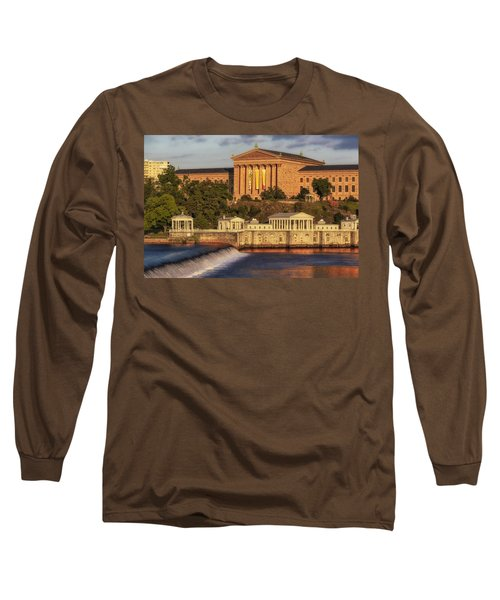 Long Sleeve T-Shirt featuring the photograph Philadelphia Museum Of Art by Susan Candelario