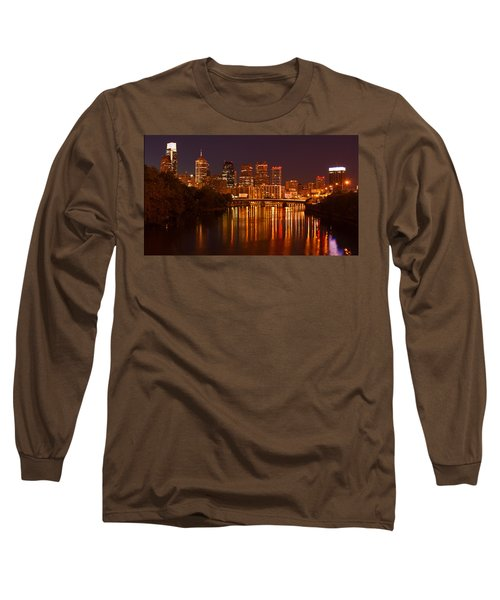 Philly Lights Reflected Long Sleeve T-Shirt