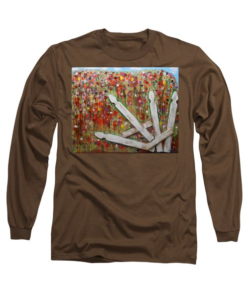 Picket Fence Flower Garden Long Sleeve T-Shirt