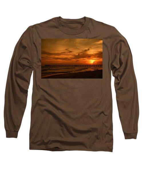 Pier At Sunset Long Sleeve T-Shirt