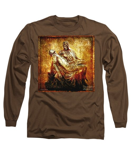 Pieta Via Dolorosa 13 Long Sleeve T-Shirt by Lianne Schneider