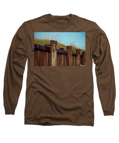 Pilings Folly Beach Sc Long Sleeve T-Shirt