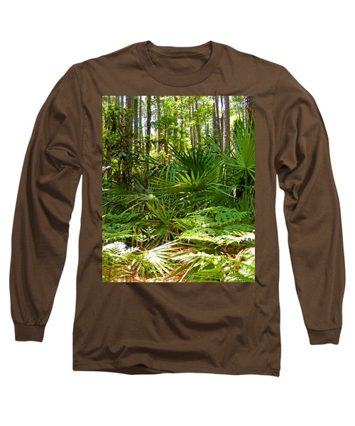 Pine And Palmetto Woods Filtered Long Sleeve T-Shirt