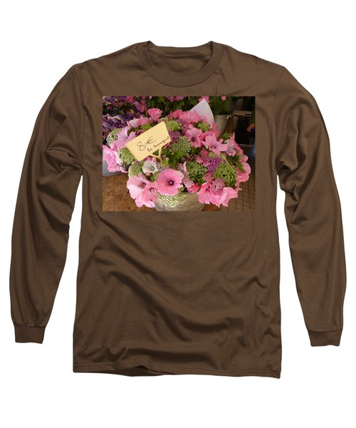 Pink Bouquet Long Sleeve T-Shirt by Carla Parris