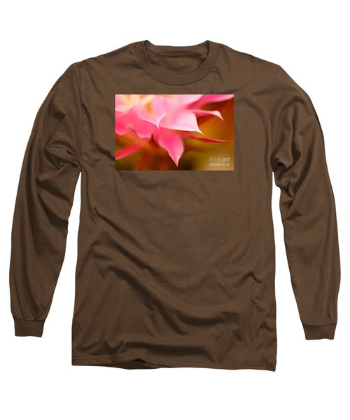 Pink Cactus Flower Abstract Long Sleeve T-Shirt by Michael Cinnamond