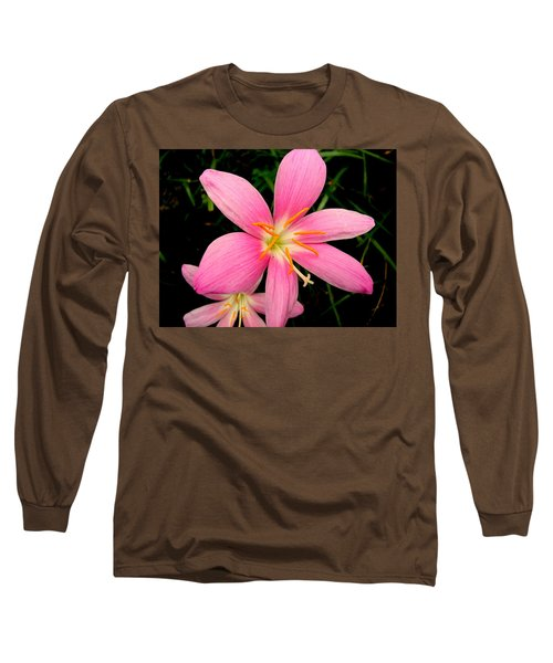 Long Sleeve T-Shirt featuring the photograph Pink Day Lily by Cynthia Amaral