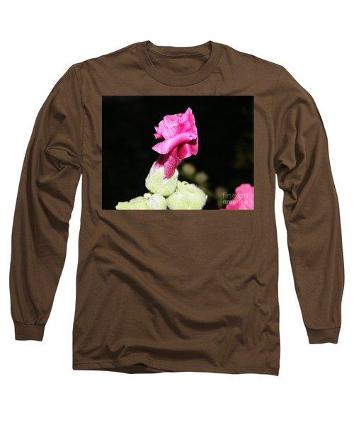 Pink Hollyhock  Long Sleeve T-Shirt