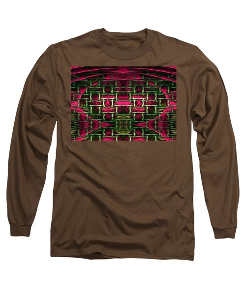 Long Sleeve T-Shirt featuring the painting Pink Illusion by Rafael Salazar