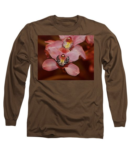 Pink Orchid Long Sleeve T-Shirt by Mustafa Abdullah
