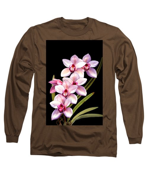 Pink Orchids Long Sleeve T-Shirt