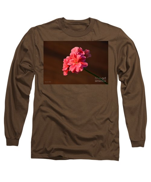 Long Sleeve T-Shirt featuring the photograph Pink by Ramona Matei