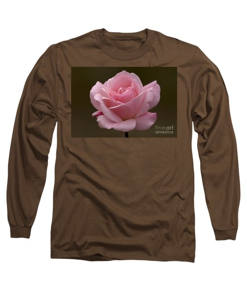 Long Sleeve T-Shirt featuring the photograph Pink Rose by Meg Rousher