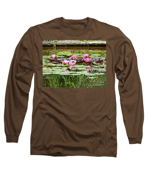 Pink Water Lilies Long Sleeve T-Shirt