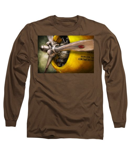 Plane - Pilot - Prop - Twin Wasp Long Sleeve T-Shirt