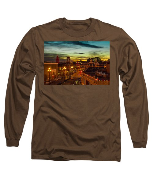 Plaza Lights At Sunset Long Sleeve T-Shirt