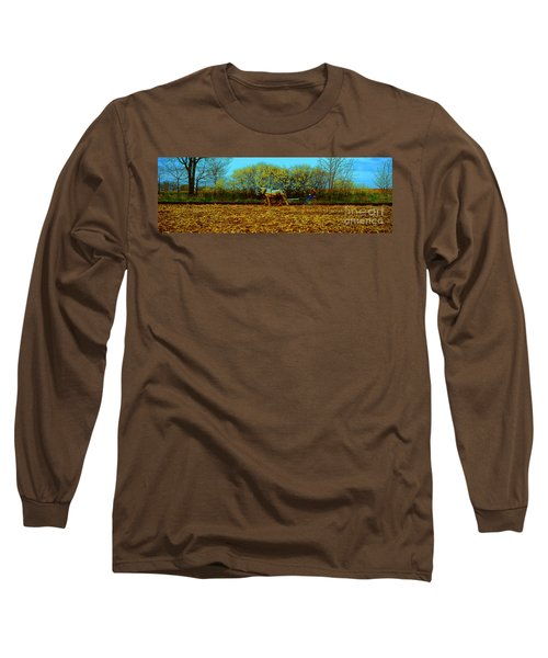 Long Sleeve T-Shirt featuring the photograph Plow Days Freeport  Tom Jelen by Tom Jelen