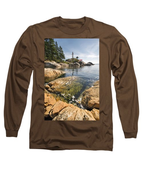 Long Sleeve T-Shirt featuring the photograph Point Atkinson Lighthouse In Vancouver Bc Vertical by JPLDesigns
