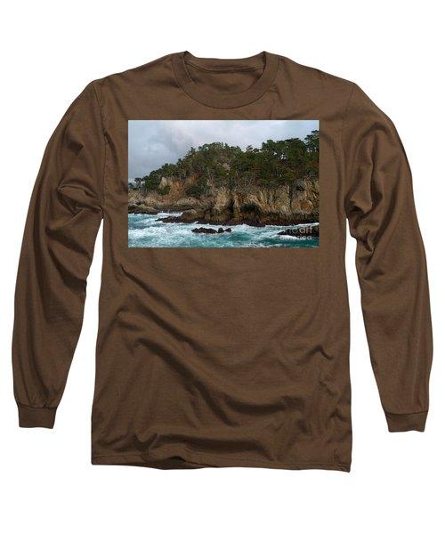 Point Lobos Coastal View Long Sleeve T-Shirt
