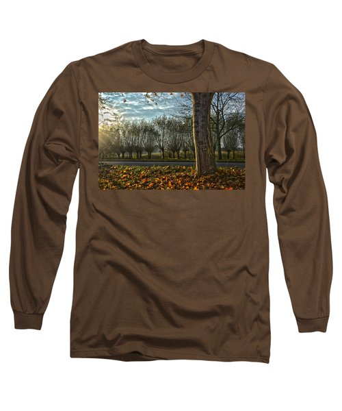 Pollard Willows In Rotterdam Long Sleeve T-Shirt by Frans Blok
