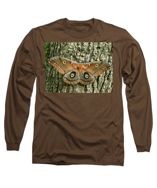 Polyphemus Moth Long Sleeve T-Shirt