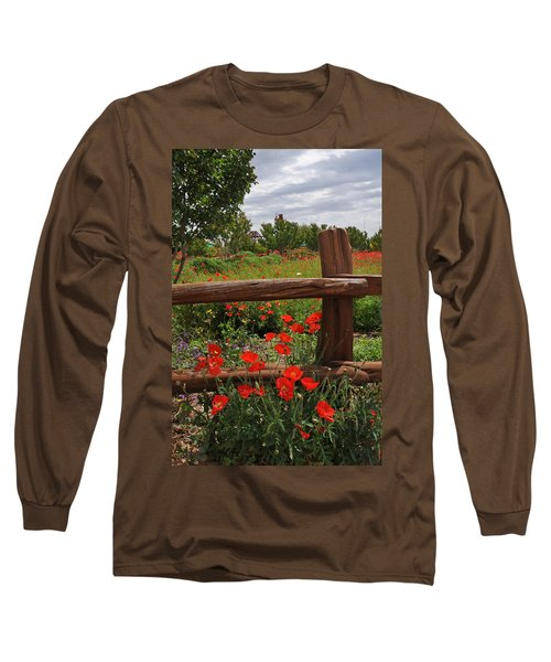 Poppies At The Farm Long Sleeve T-Shirt