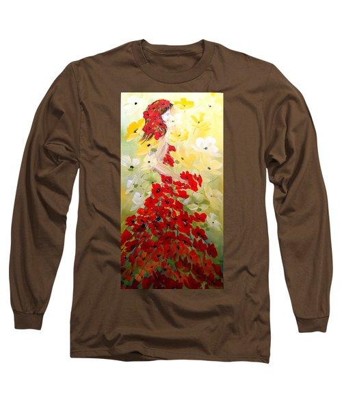 Poppies Lady Long Sleeve T-Shirt
